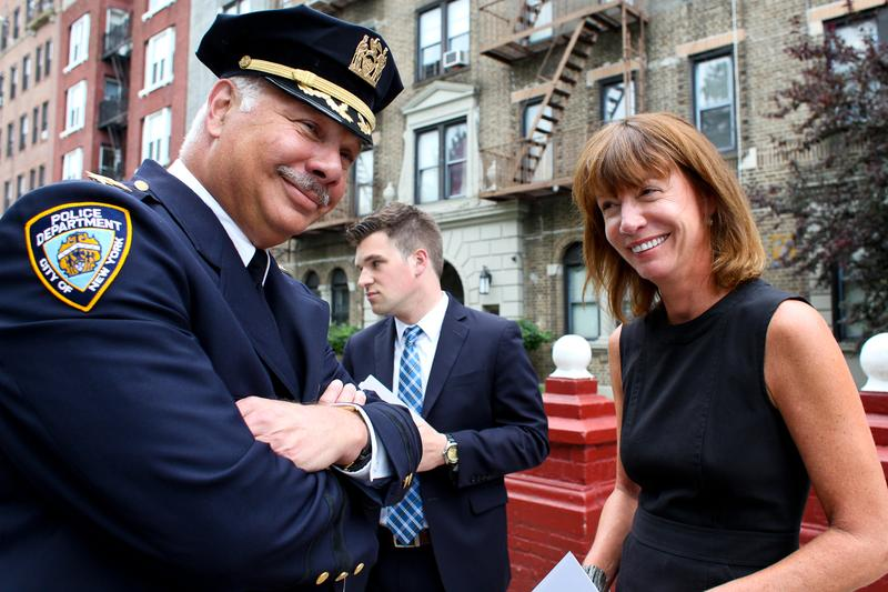 Commissioner of the New York City Department of Transportation Janette Sadik-Khan and Chief of Transportation Bureau James Tuller