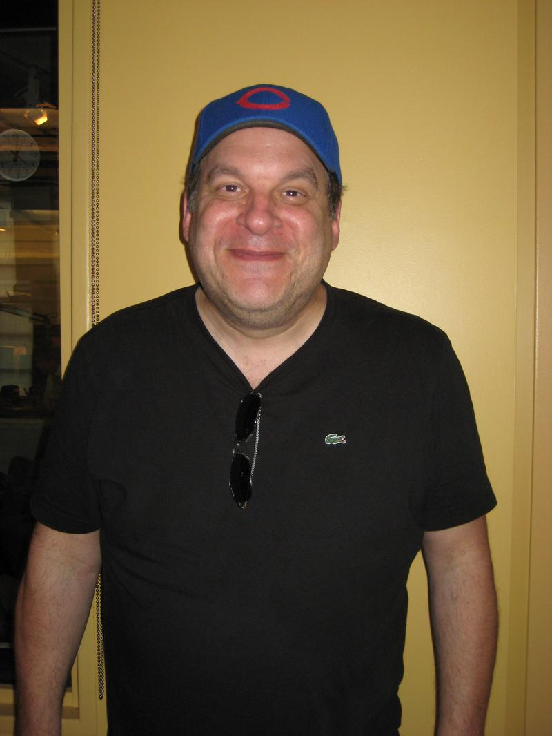 Actor and director Jeff Garlin in the WNYC studios