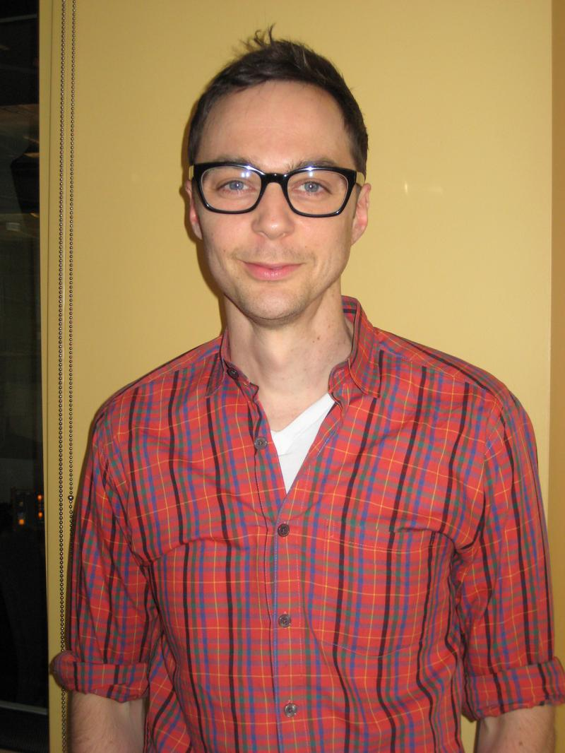 Actor Jim Parsons in the WNYC studios