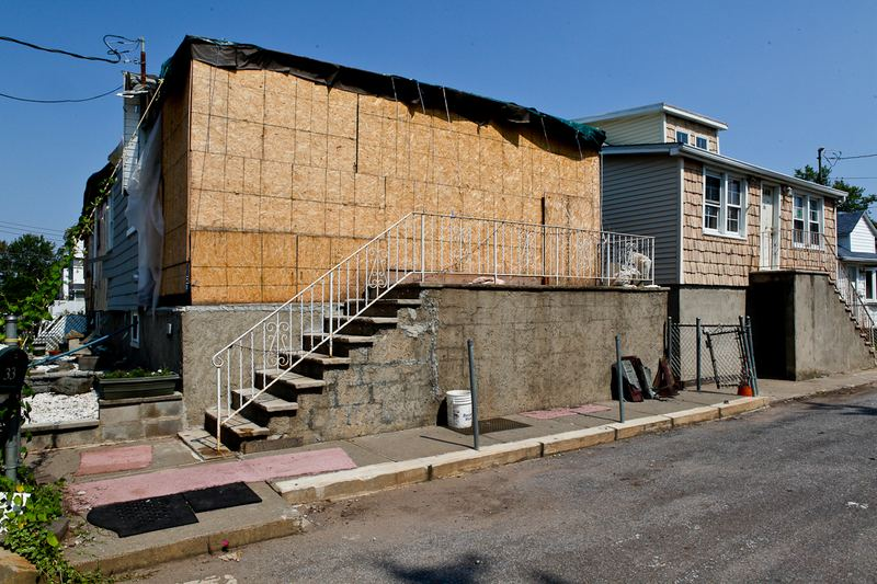 Joe Bertacchi's damaged home on Iona Street in Midland Beach, Staten Isalnd.