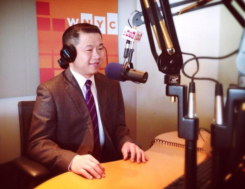 New York City Comptroller, and candidate for mayor, John Liu in the WNYC studios