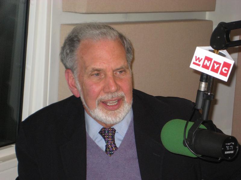 NYU President John Sexton in the WNYC studios