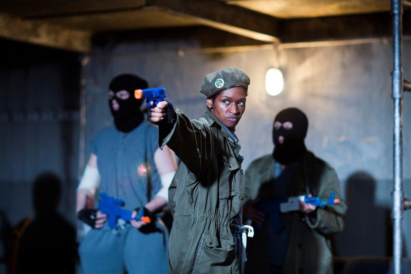 Julius Caesar, directed by Phyllida Lloyd, Donmar Warehouse.  Jenny Jules as Cassius.