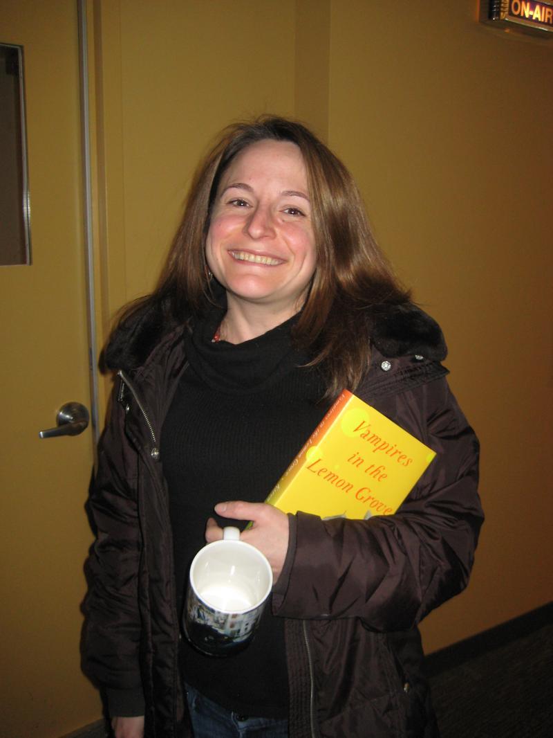 Writer Karen Russell in the WNYC studios