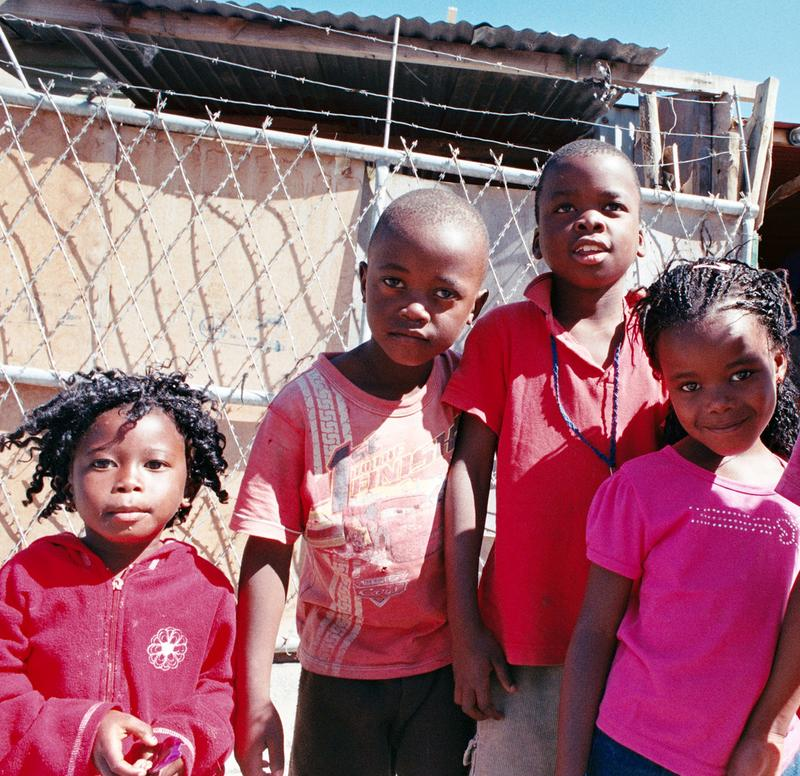 Kids from the township of Gugulethu in Cape Town