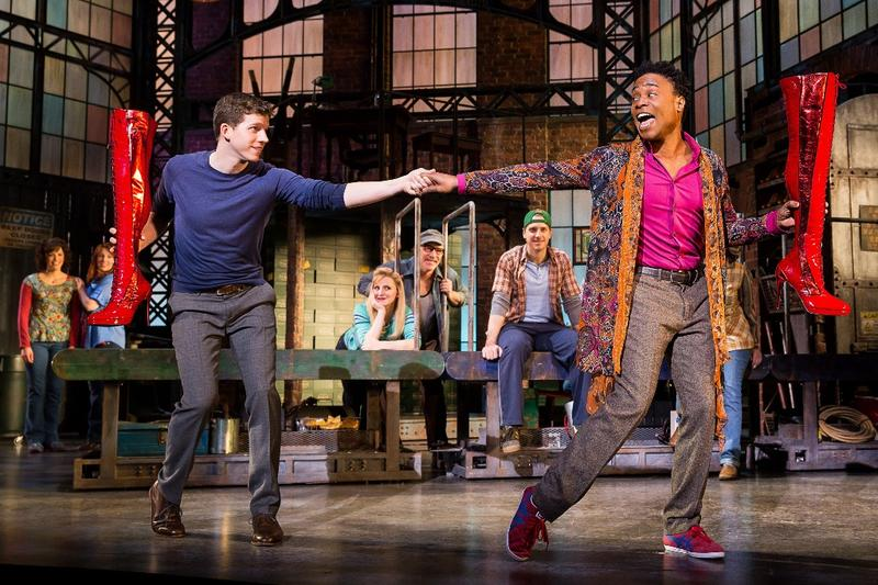 "Stark Sands and Billy Porter in ""Kinky Boots"""