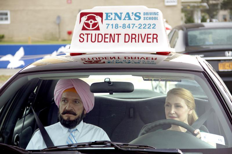 Ben Kingsley (Darwan Singh Tur) with Patricia Clarkson (Wendy Shields) in Broad Green's upcoming release, LEARNING TO DRIVE.