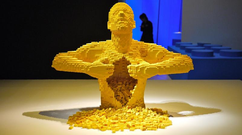 The Brick Art of Nathan Sawaya, made entirely of LEGOs and on display at The Morris Museum in Morristown, New Jersey