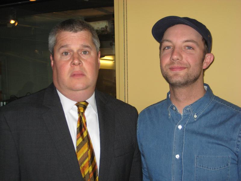 Lemony Snicket and Jon Klassen in the WNYC studios