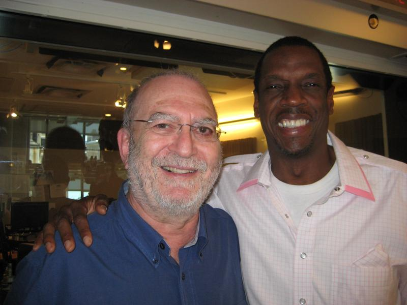 Leonard Lopate and baseball legend Dwight Gooden in the WNYC studio