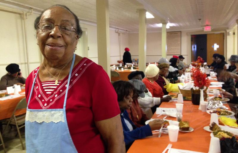 84-year-old Lou Ella Jackson cooked 15 turkeys and all the trimmings for the hungry at Ebenezer Baptist Church in Orange, N.J.