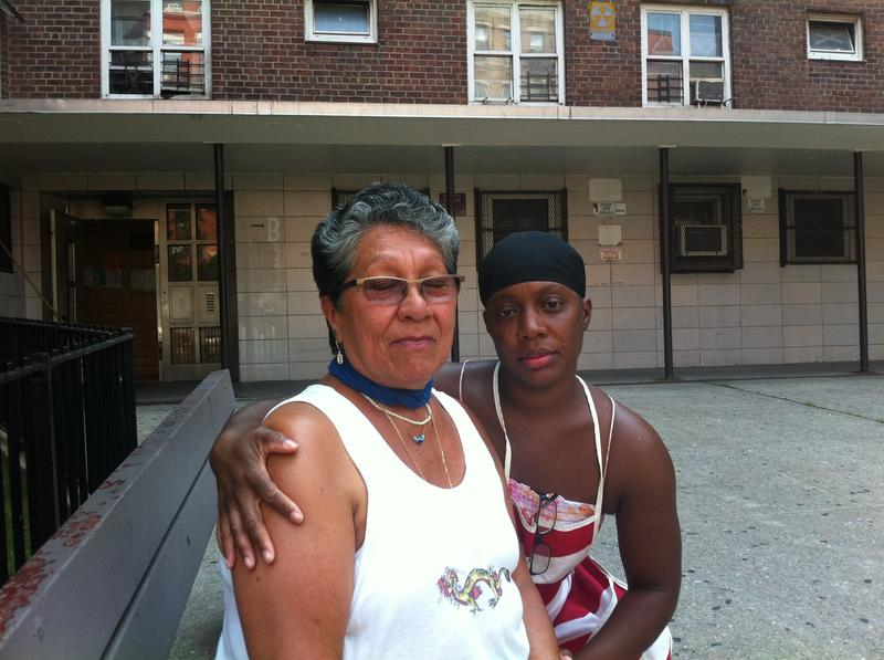 Lydia Belazquez and Sheletha Hill at the Jacob Riis Houses, a public housing development in the East Village