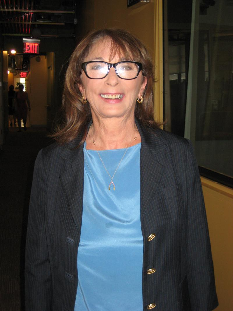 Veteran Hollywood producer Lynda Obst in the WNYC studios