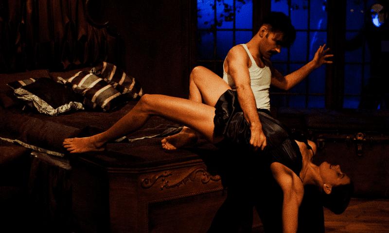 """Nicholas Bruder as Macbeth and Sophie Bortolussi as Lady Macbeth in """"Sleep No More"""""""