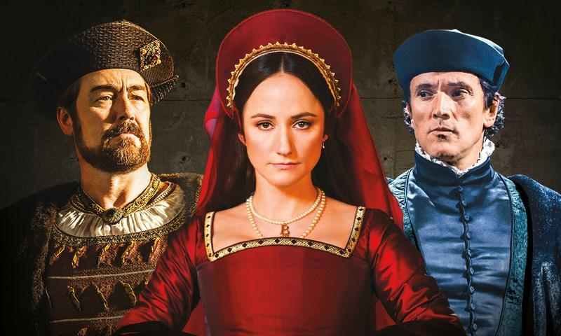 A detail of the poster for the stage adaptation of <em>Wolf Hall</em>