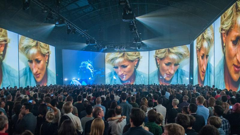 'Massive Attack V Adam Curtis' performed at Park Avenue Armory in New York