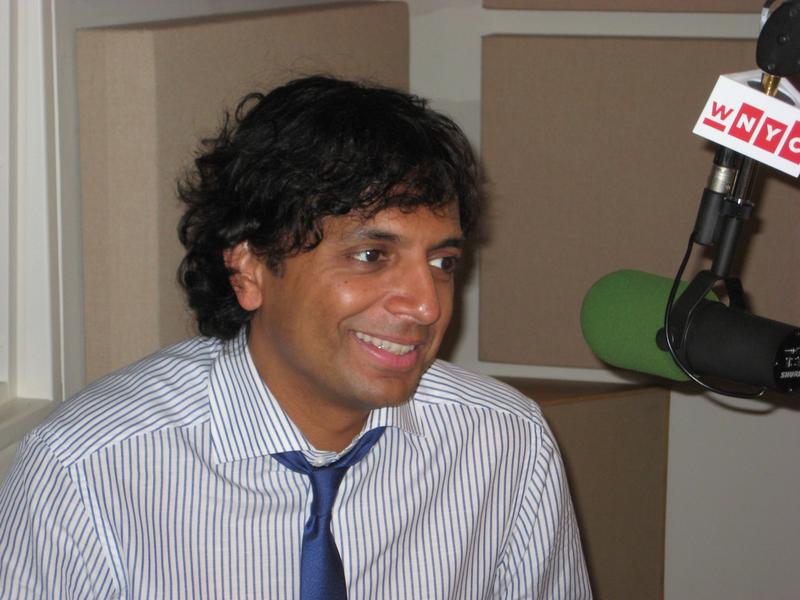 Filmmaker M. Night Shyamalan in the WNYC studios
