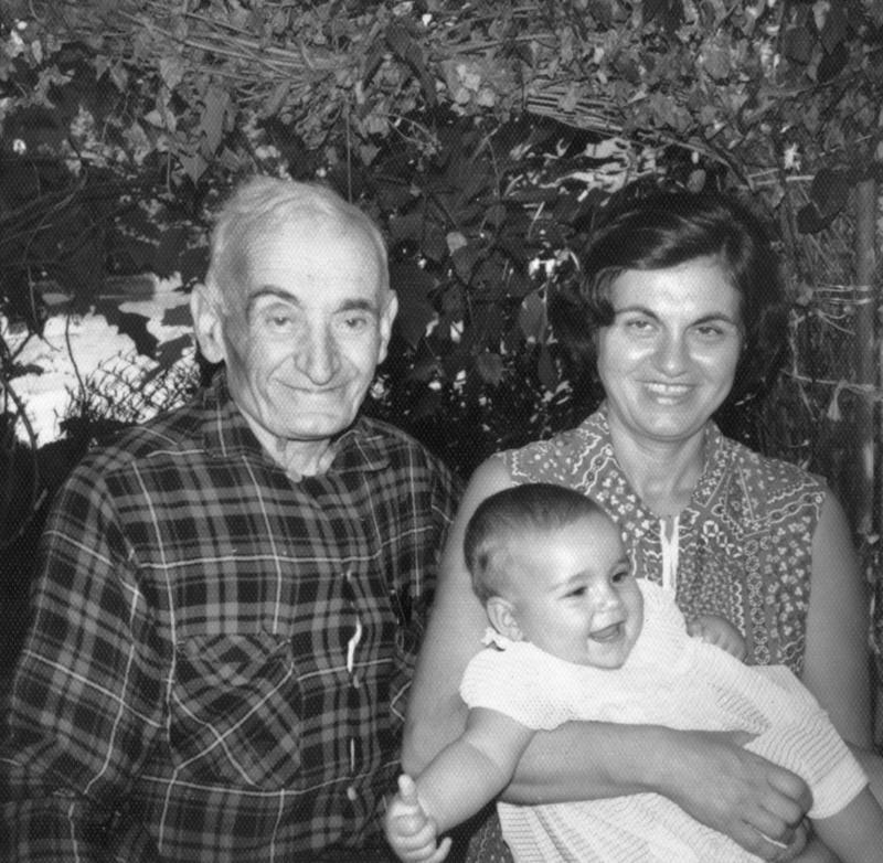 Stepan Miskjian escaped the Armenian genocide for the United States. Here he is with his daughter, Anahid, and his infant granddaughter, Dawn Anahid MacKeen.