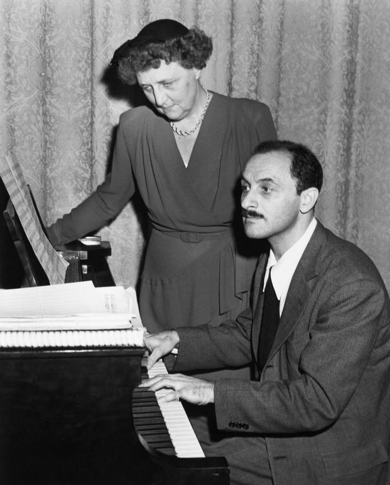 Marc Blitzstein, composer, at piano. Circa 1946.