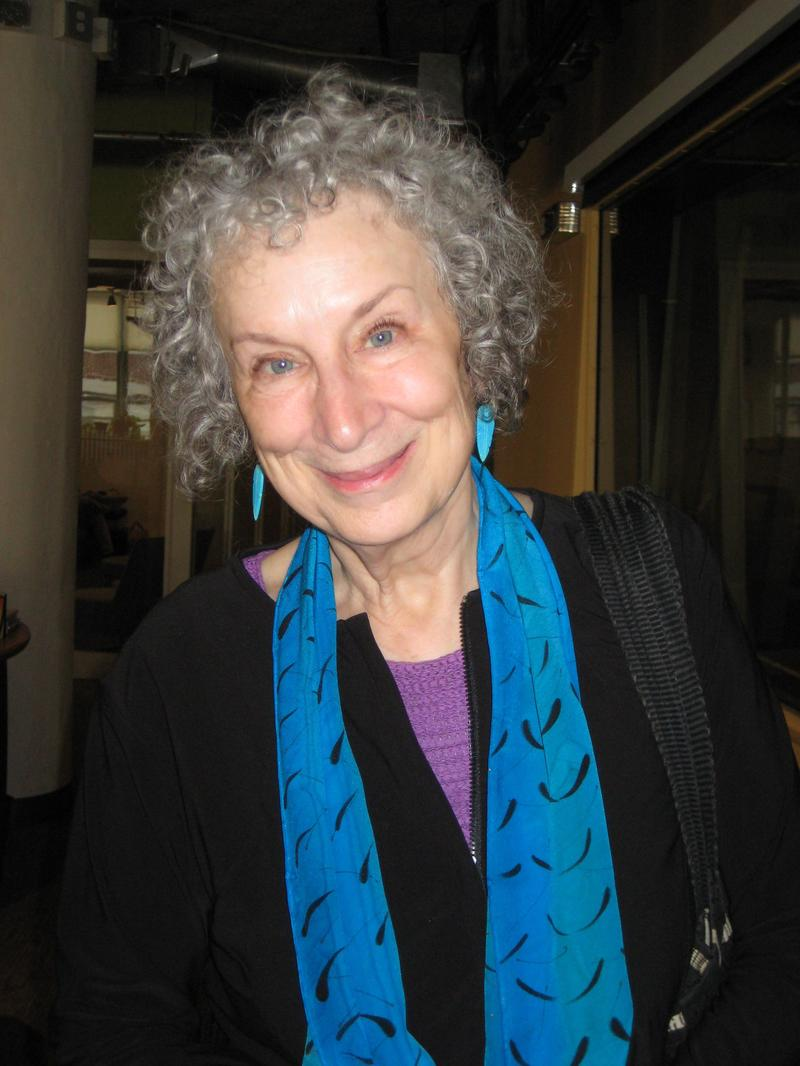 Novelist Margaret Atwood in the WNYC studios