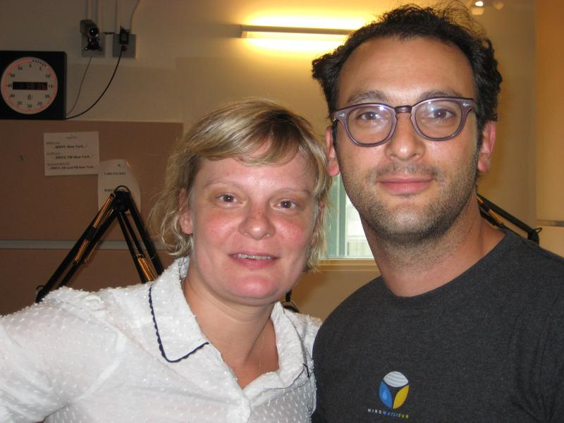 Martha Plimpton, filling in as guest host for Leonard Lopate, and filmmaker Josh Fox in WNYC's studios July 11, 2013