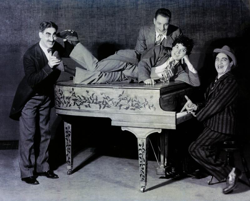 The Four Marx Brothers, Groucho, Zeppo. Harpo and Chico around the time they were on WNYC