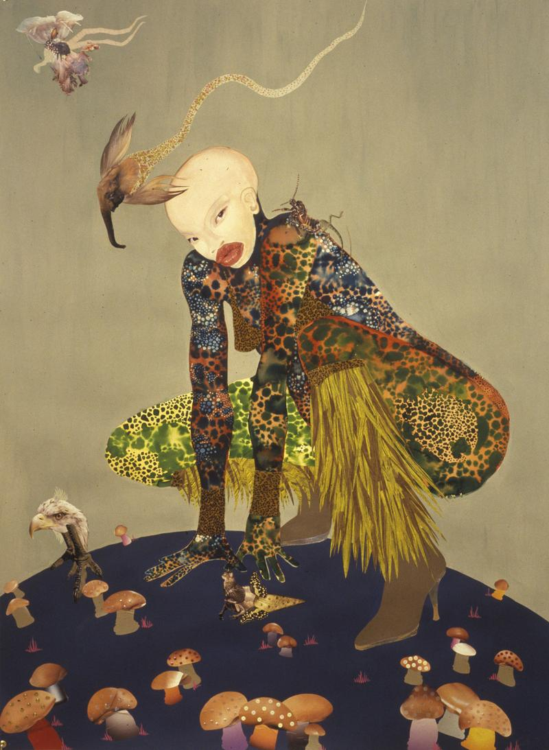 Wangechi Mutu, Riding Death in My Sleep, 2002