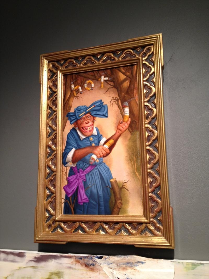 """""""Naughty Betty, a Rite of Passage,"""" by Donald Roller Wilson at Storefront Bushwick"""