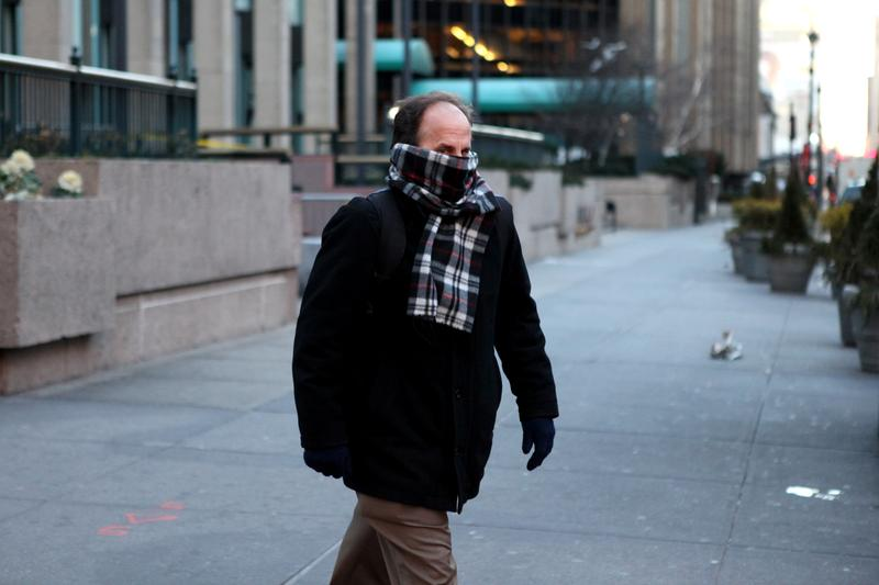New Yorkers bundled up as a polar vortex descended on the city creating frigid temperatures.