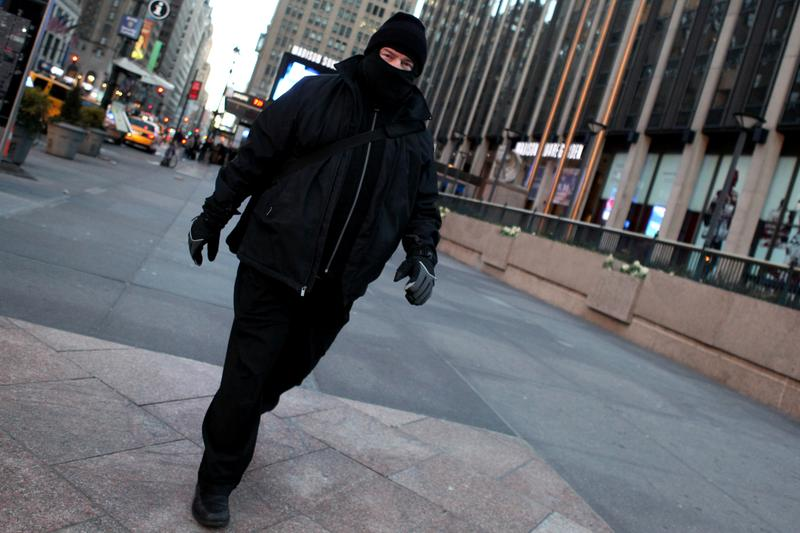 New Yorkers bundled up as a polar vortex descended on the city January 7, 2014, creating frigid temperatures.