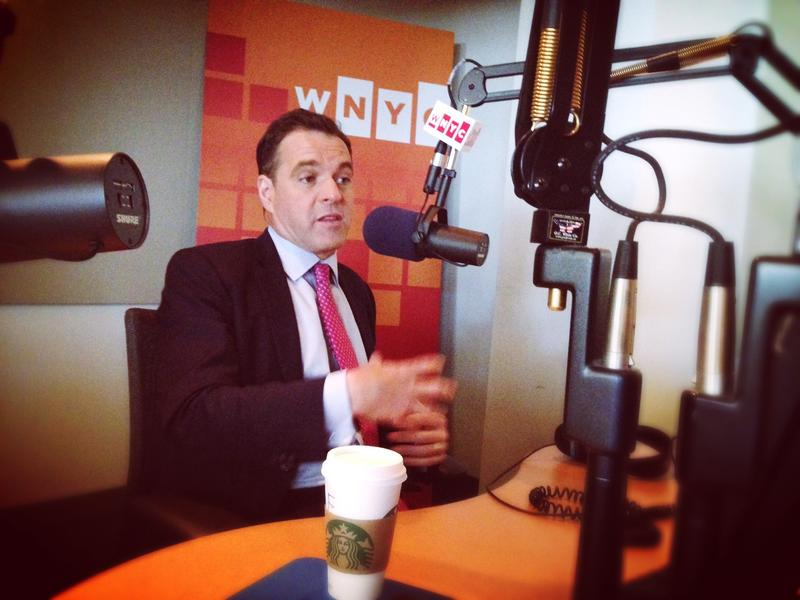 Economic historian Niall Ferguson in the WNYC Studios, speaking with Brian Lehrer