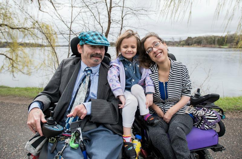 Darrell Paulsen, Nikki Villavicencio and their daughter, Alley