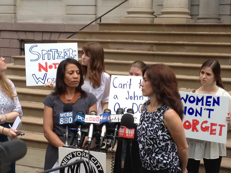 Executive Director of the Women's City Club of New York (WCC-NY) Taina Bein-Aime and President of the National Organization for Women  NOW-NYC Sonia Osorrio spoke out against Eliot Spitzer's attempt t