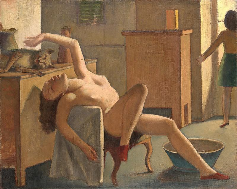Balthus (Balthasar Klossowski) (French, 1908–2001) Nude with Cat 1949