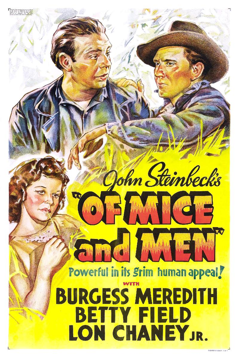 Poster for the 1939 film Of Mice and Men.