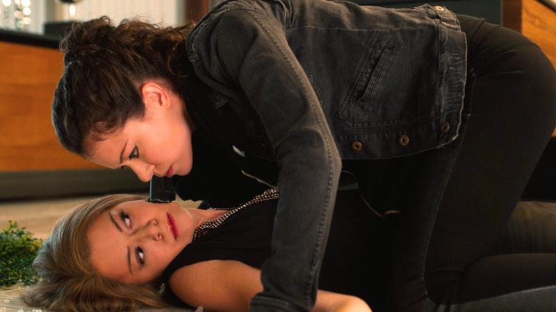 """A scene from BBC America's conspiracy thriller """"Orphan Black"""""""