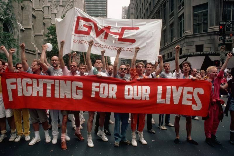 Gay Protesters on Gay Pride Day, July 1, 1985
