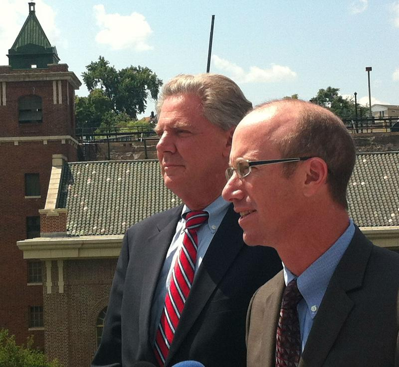 Congressman Frank Pallone (left) has been endorsed by senator Frank Lautenberg's son, Josh.