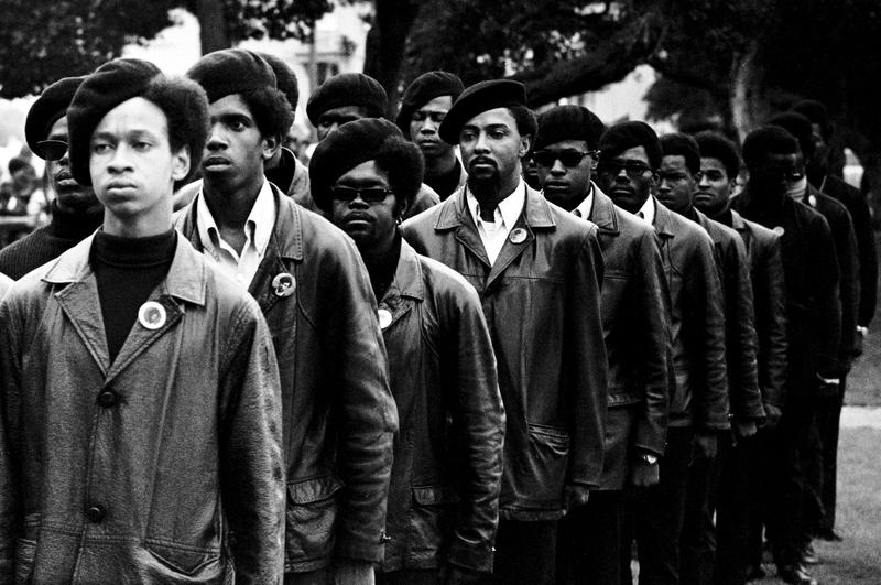 Black Panthers on parade at Free Huey rally in Defermery Park, Oakland, July 28, 1968.