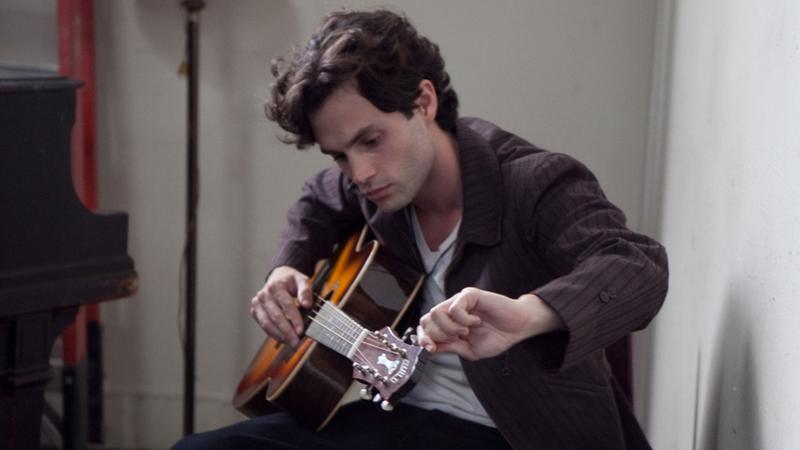 Penn Badgley plays Jeff Buckley in 'Greetings from Tim Buckley.'