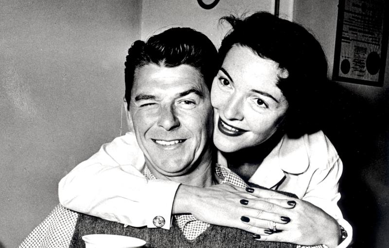 Ronald Reagan and his wife, the actress Nancy Davis
