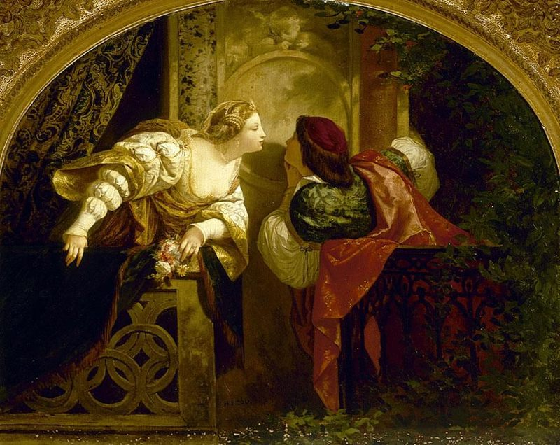 Henri-Pierre Picou's painting of Romeo and Juliet