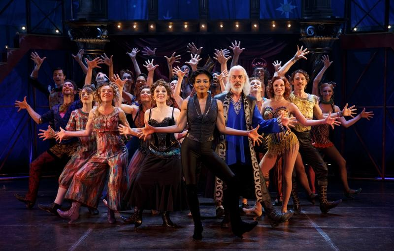 "The cast of ""Pippin"" at Broadway's Music Box Theatre"