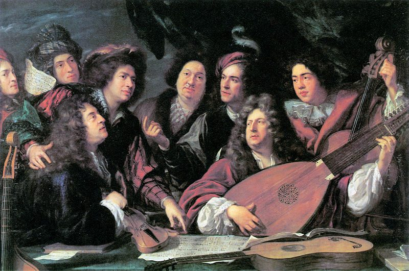 Portrait of several musicians and artists by François Puget; 1688.