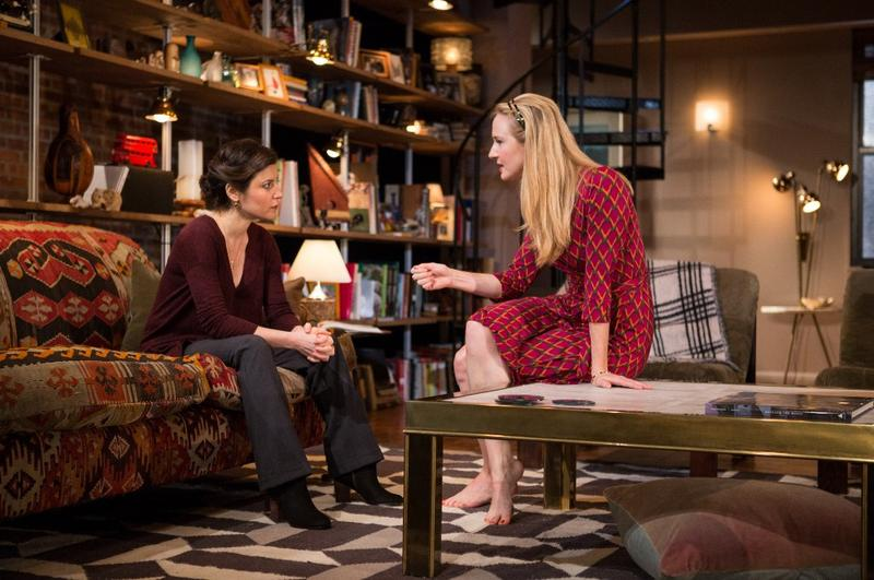"(L-R) Susan Pourfar and Halley Feiffer in Atlantic Theater Company's world premiere of ""Women or Nothing"" by Ethan Coen"