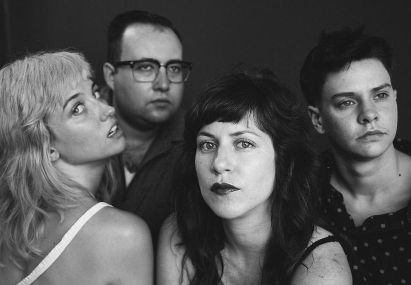 Members of the band Priests L to R: Katie Alice Greer, G.L. Jaguar, Daniele Daniele, Taylor Mulitz.