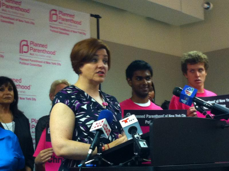 Christine Quinn receives an endorsement from Planned Parenthood of New York City