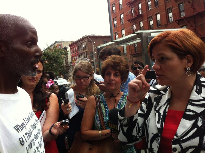 Council Speaker Christine Quinn accused Public Advocate Bill de Blasio of hypocrisy.