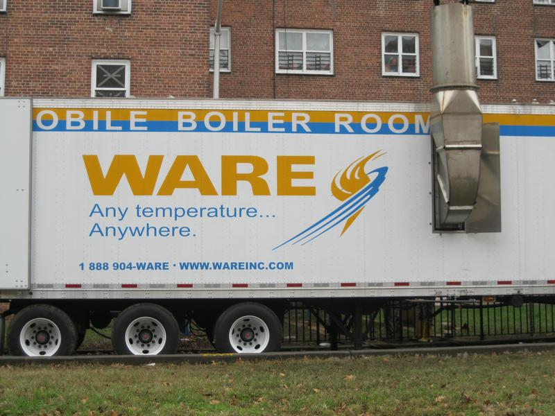 Buildings in Red Hook Brooklyn continue to run on temporary mobile boilers
