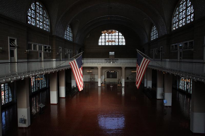 The Registry Hall at Ellis Island.